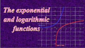 2.4 Exponential and logarithmic functions