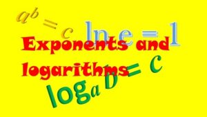 1.4 Exponents and logarithms