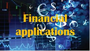 1.3 Financial applications