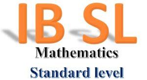 IB -Mathematics - Standard level