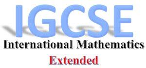 CIE IGCSE International Maths (0607) - Extended