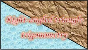 3.2 Right-angled triangle trigonometry