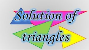 3.6 Solution of triangles