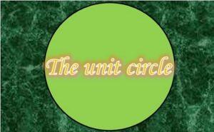 3.3 The unit circle