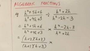 2.6 Algebraic fractions