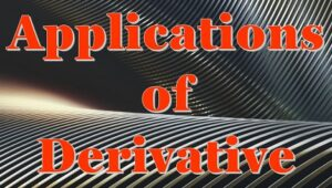 6.3 Applications of derivative
