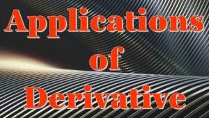 6.3 Applications of derivative
