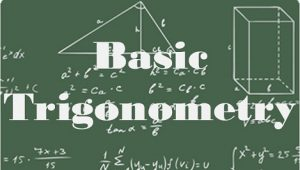 8.1 Basic trigonometry