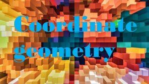 4.1 Coordinate geometry