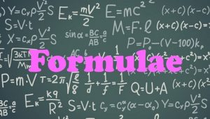 2.3 Formulae