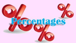 1.7 Percentages, decimals and fractions