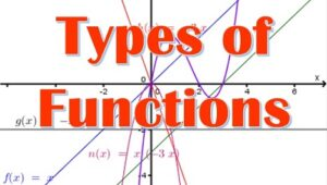 3.2 Types of functions