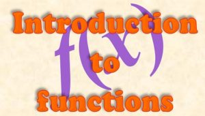 2.1 Introduction to functions