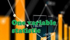4.1 One variable statistics