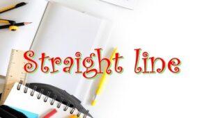 2.1 Straight line