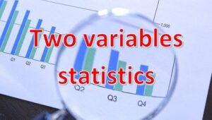 4.2 Two variables statistics
