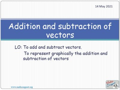 Add and subtract vectors