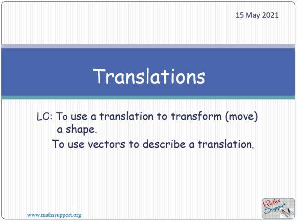 Transformations - Translation