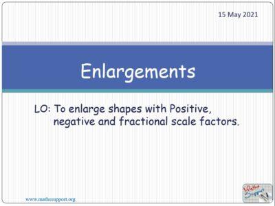 Transformations - Enlargements